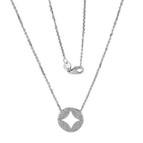 Luvente Diamond Cut Out Necklace