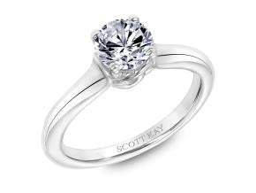 Classic Engagement Solitaire for 1ct Diamond by Scott Kay