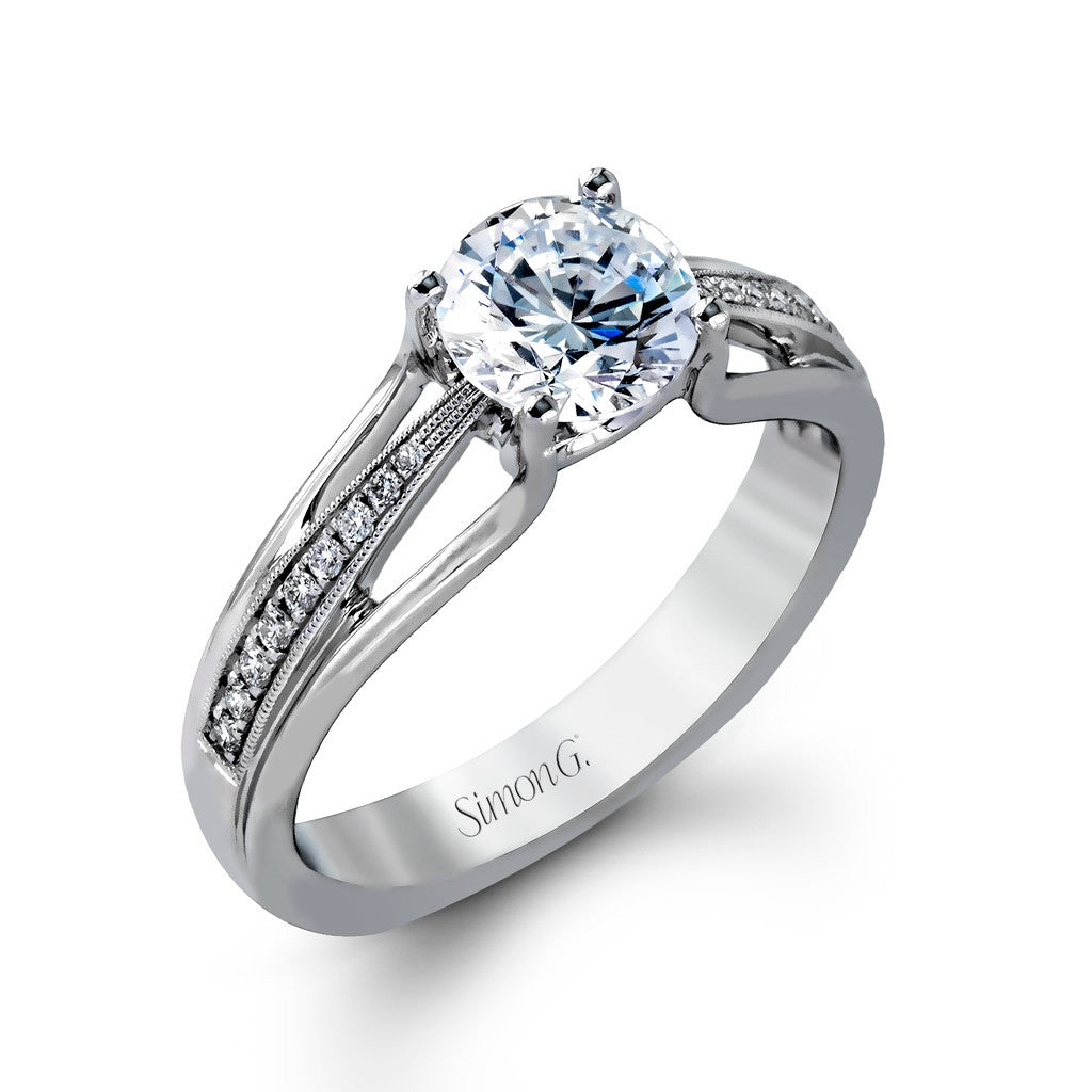 Diamond Engagement Ring with Split Shank by Simon G