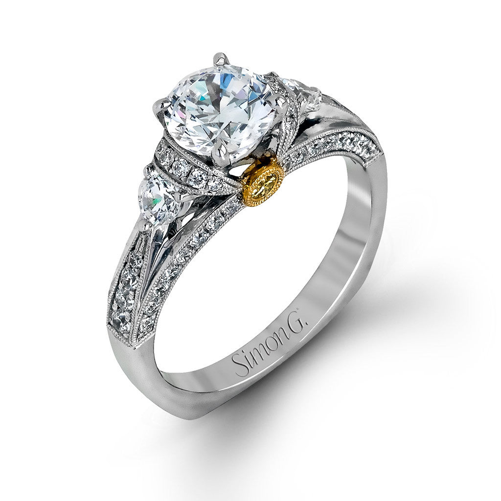 Diamond Vintage Style Engagement Ring by Simon G