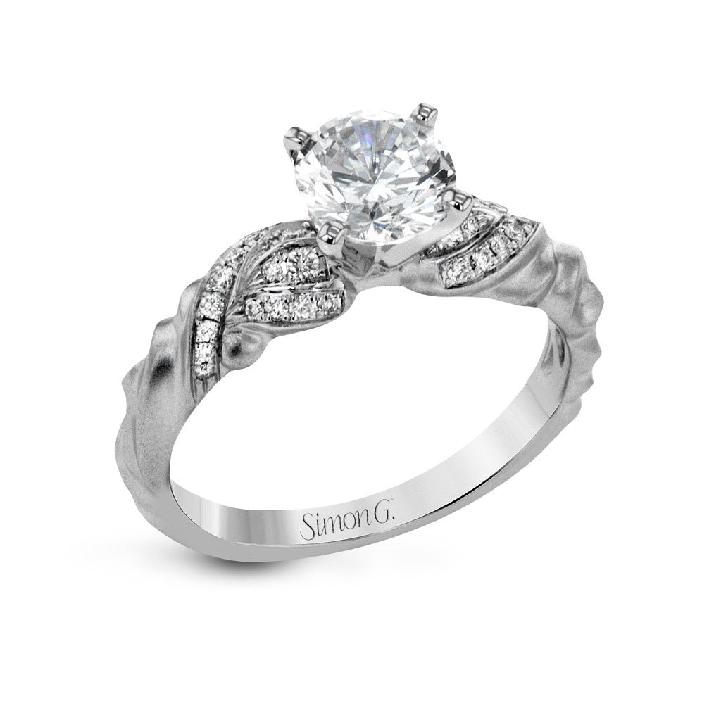 """Harmony"" Vintage Style Engagement Ring by Simon G"