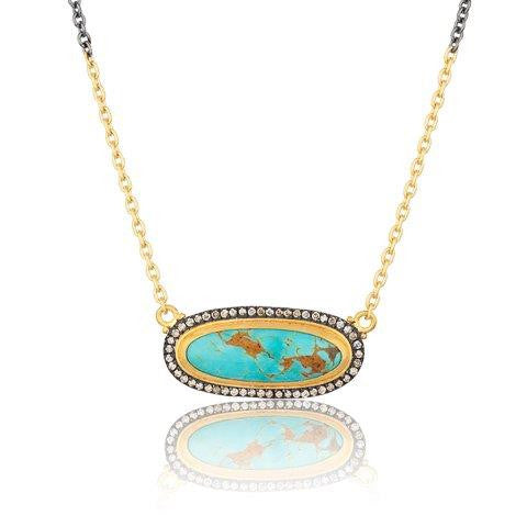 Turquoise and Diamond Pendant by Lika Behar