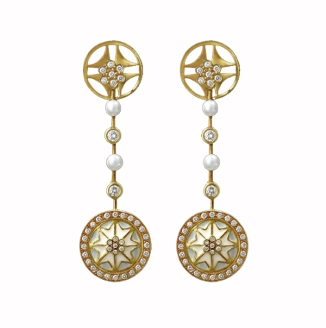 'Snow Flower' Earrings by Masriera