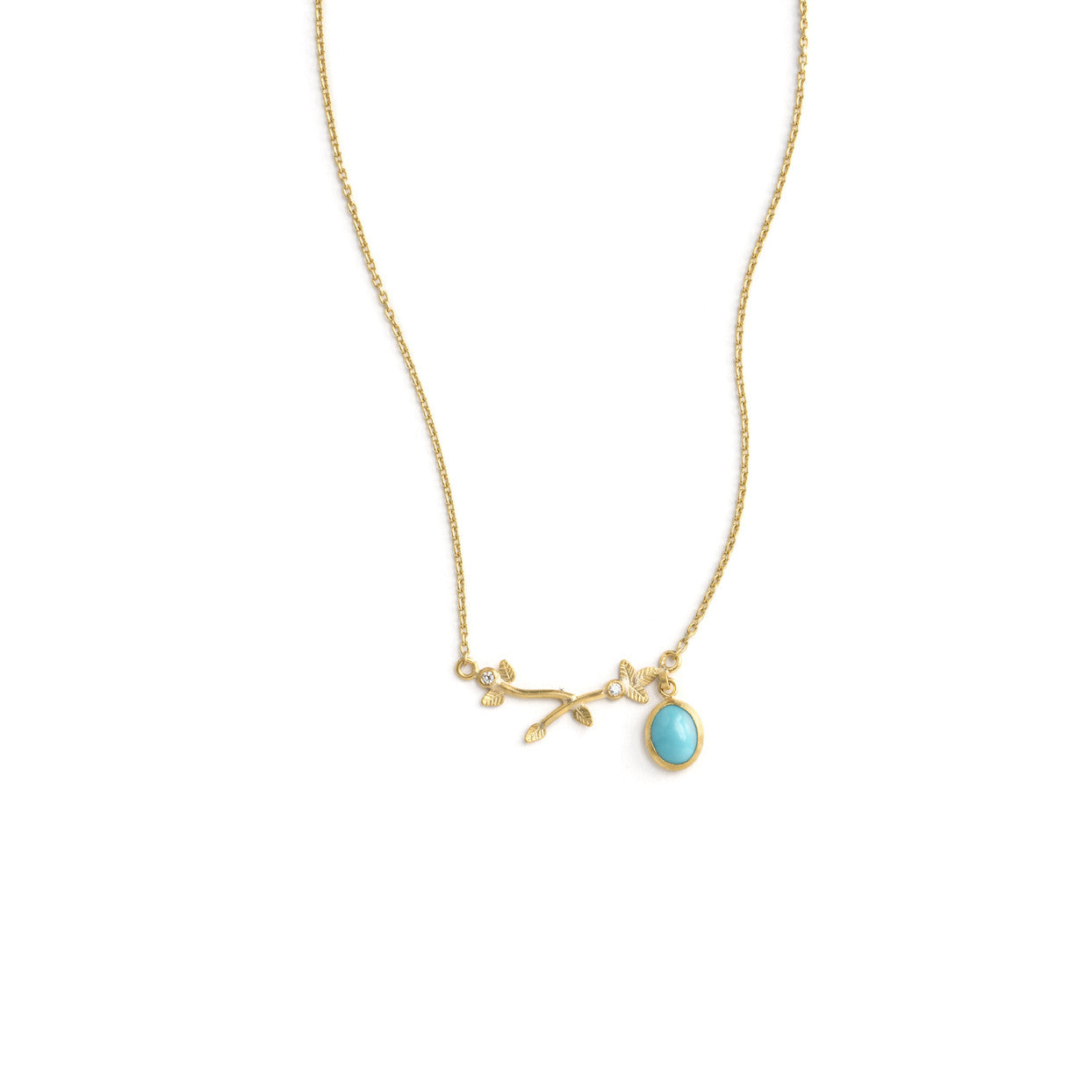 in jewelry lyst pendant gold fullscreen necklace metallic branch olive view anthropologie