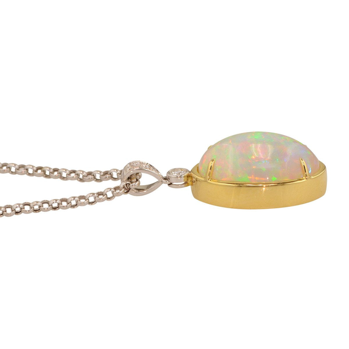 Ethiopian opal pendant smith and bevill jewelers exceptional ethiopian opal pendant mozeypictures Choice Image