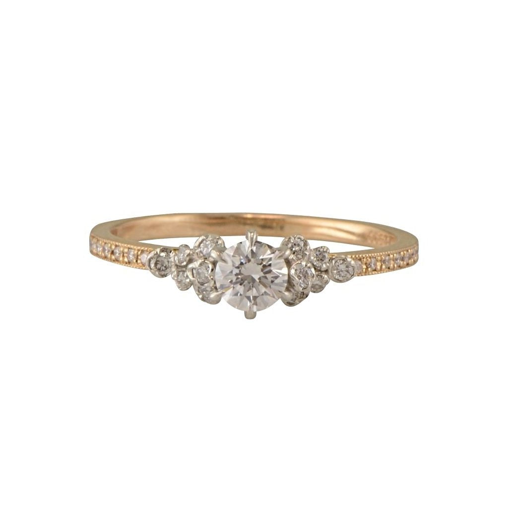 Portia rose gold and diamond engagement ring