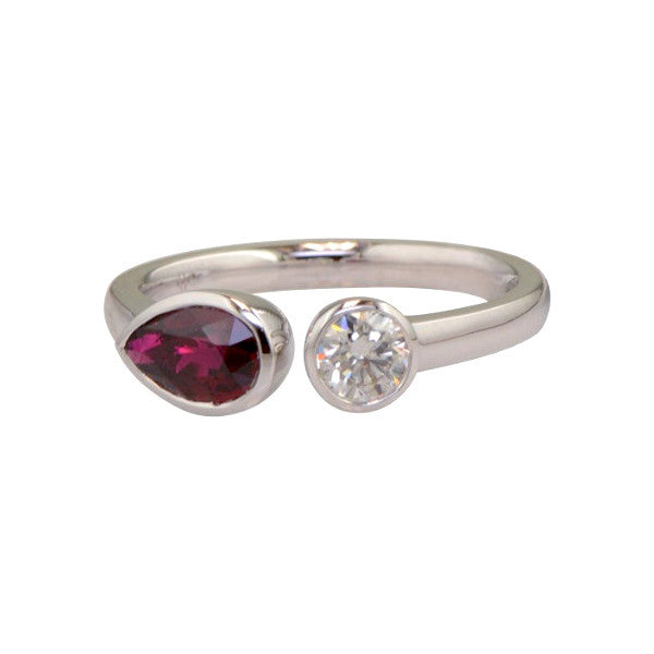 Queen of Hearts Diamond and Ruby Ring