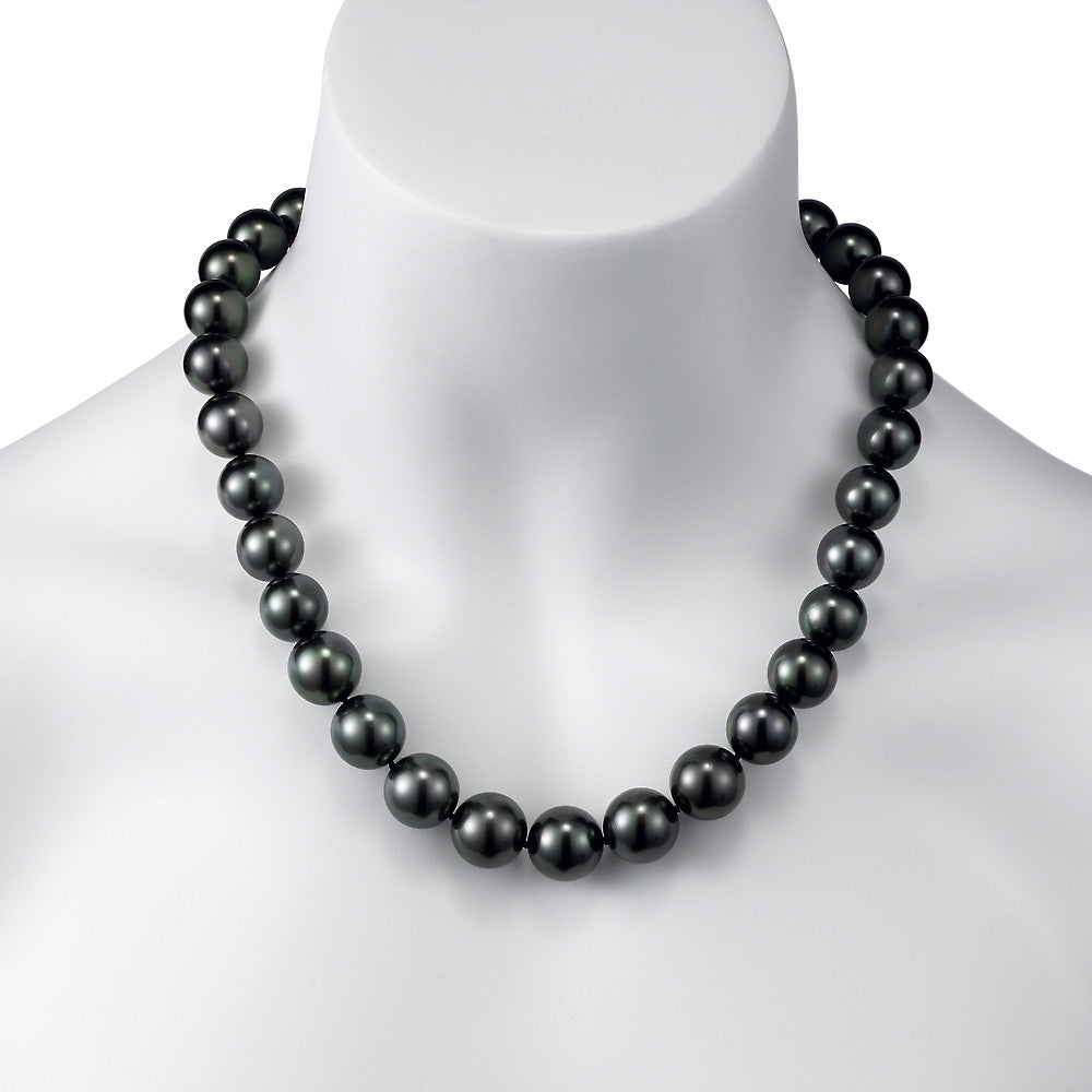 Black Tahitian Pearl Strand Necklace