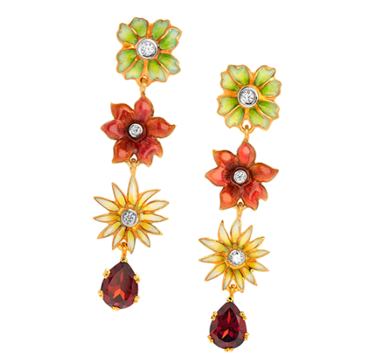 Masriera Multi Flower Dangle Earrings