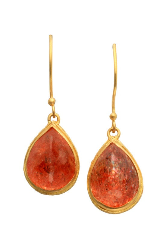 Oregon Sunstone earrings