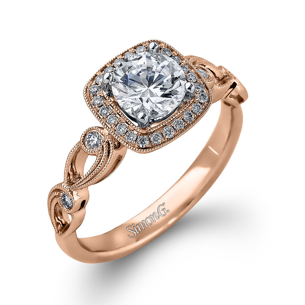 Rose gold Vintage Insppired Engagement Ring by Simon G