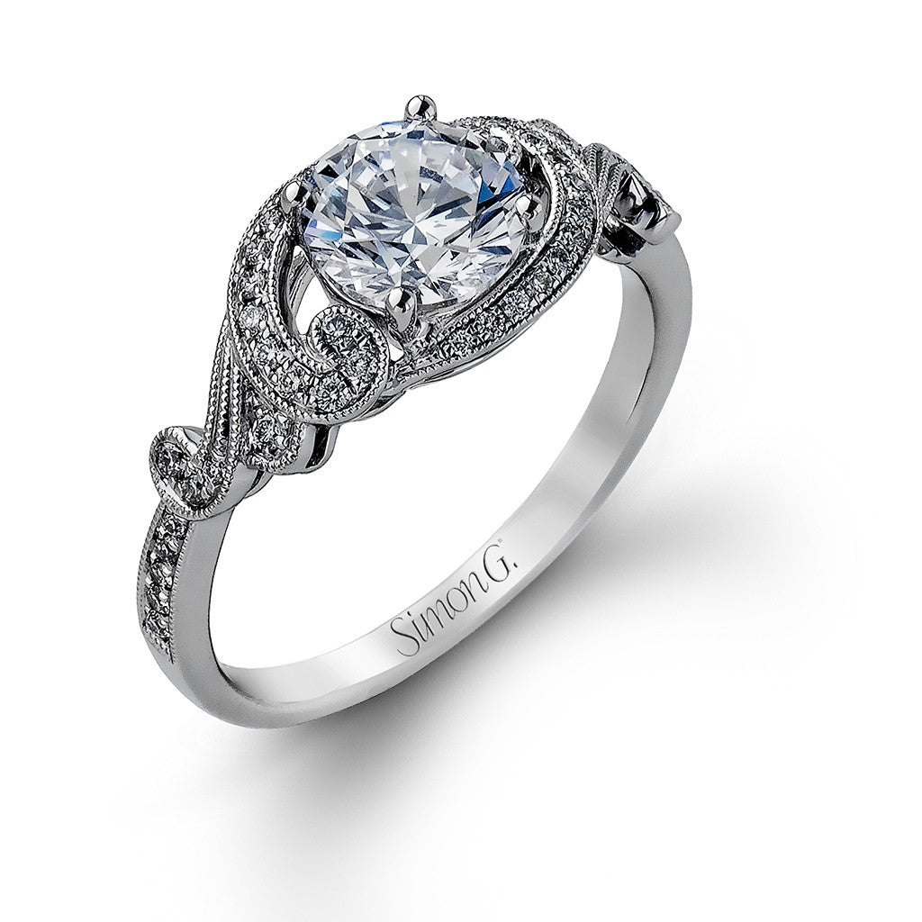 Vintage Inspired Diamond Engagement Ring 'Venice'