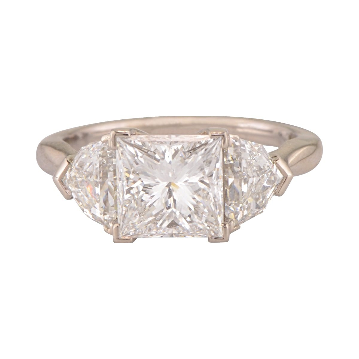 Princess Cut diamond engagement ring 'Florin'.