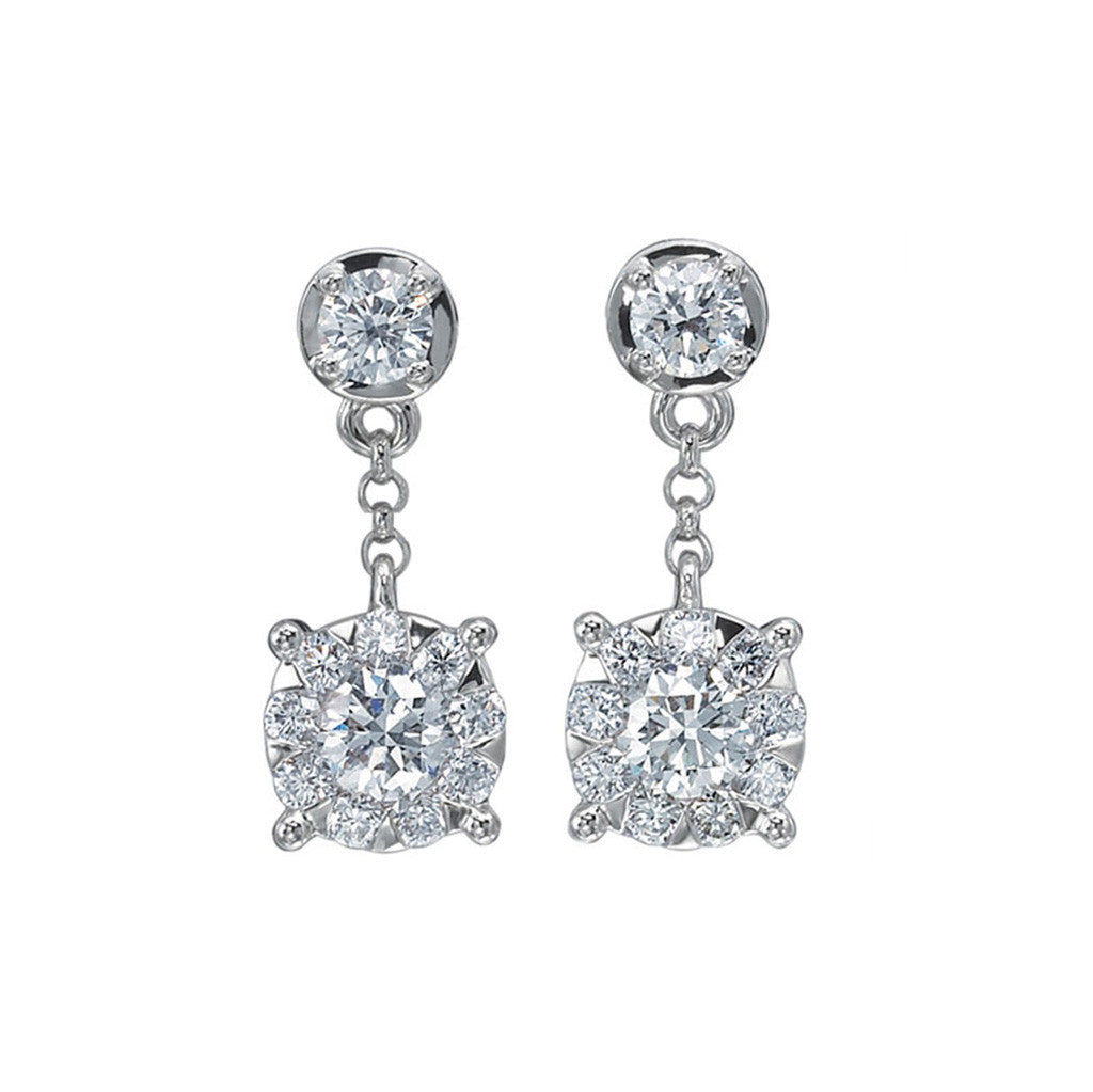 A Perfect Bridal Diamond Studd Earring by Memoire