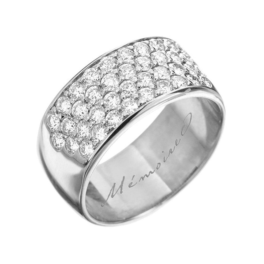 Wide pave' Diamond Band