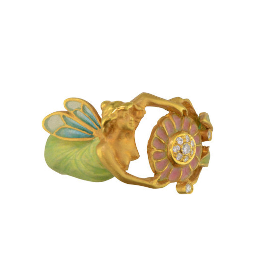 Mermaid Enamel Ring By Masriera