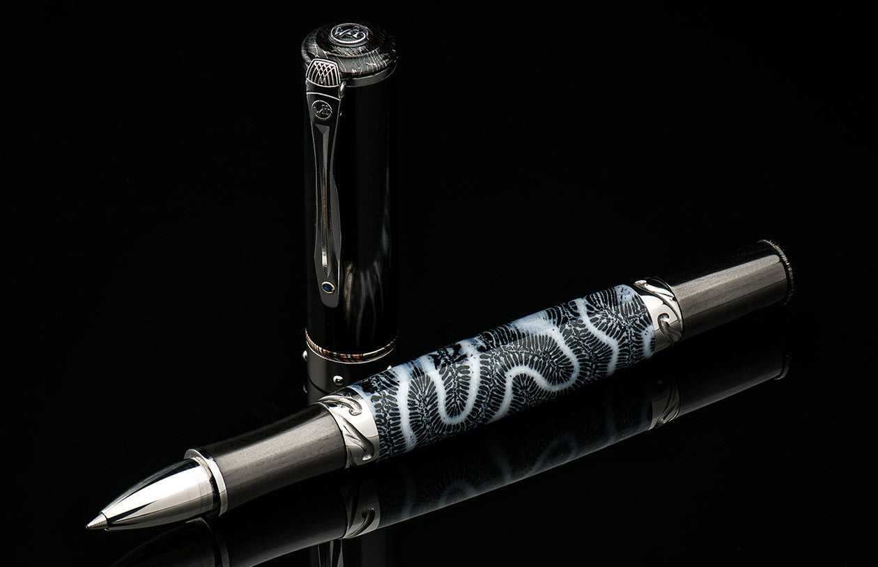 William Henry Limited Edition Pen of petrified coral