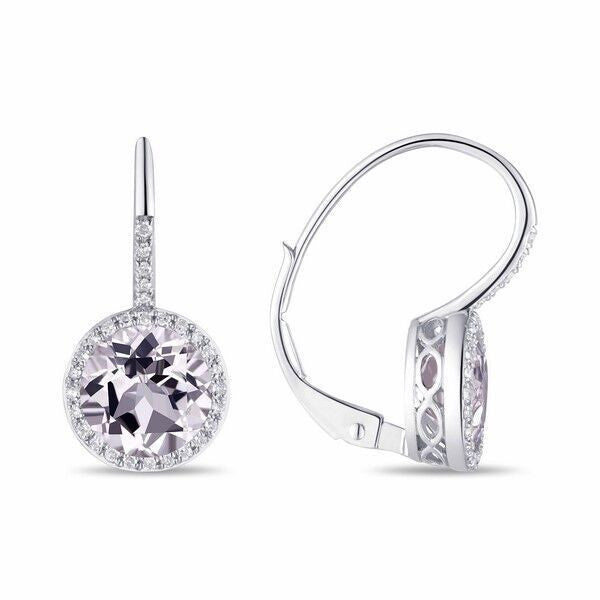 Quarts and Diamond drop Earrings