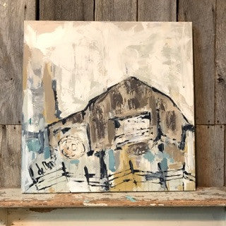 Barn Of My Youth- ORIGINAL - Deann Art