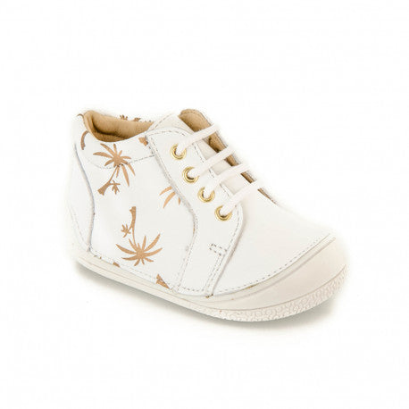 A bit of Florida palms on your baby's shoes