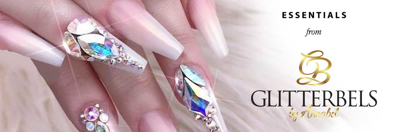 Glitterbels acrylic system essentials for nails and nail art on sale at Bluestreak Crystals