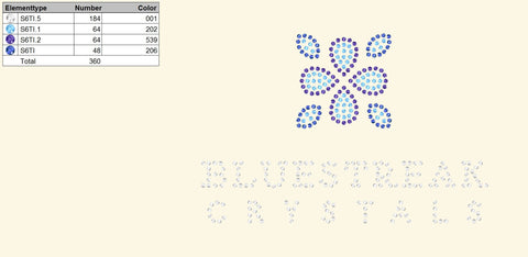 Swarovski Self-Adhesive Design Service - Crystal Infinity / IT