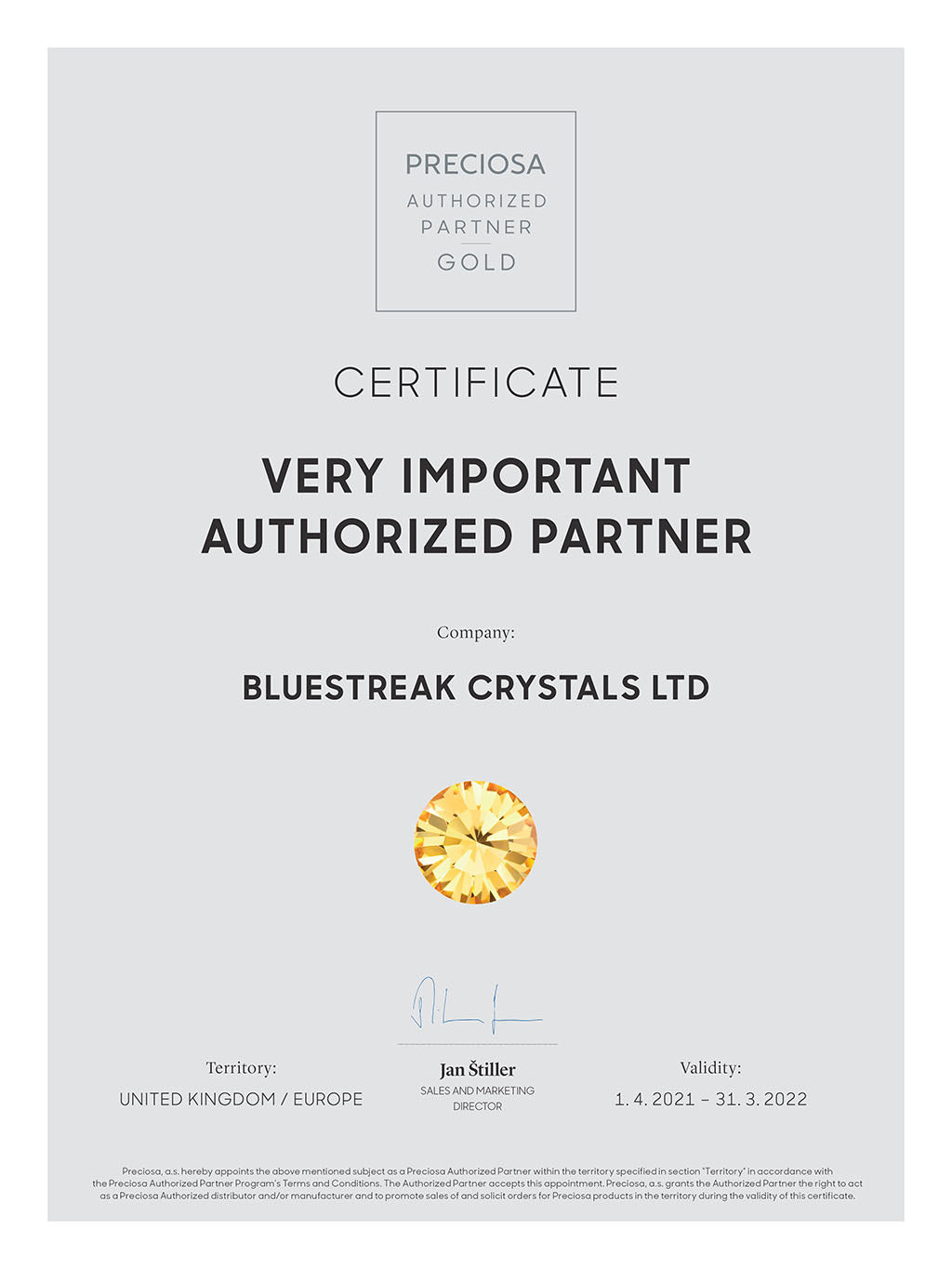 Bluestreak crystals is a gold authorised partner for Preciosa crystals where you can choose from the largest range of Preciosa beads and crystals at bluestreak crystals worldwide