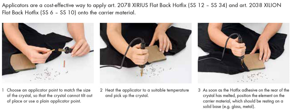 How to apply Swarovski Hotfix Crystals using a hotfix applicator