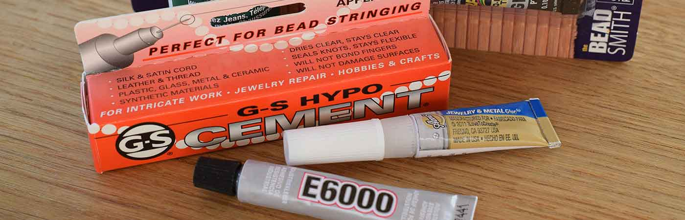 Jewellery making glue and adhesive