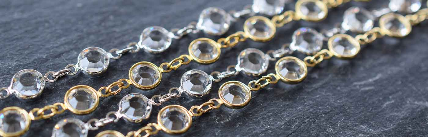 Swarovski Crystal Linked Findings and Cupchain
