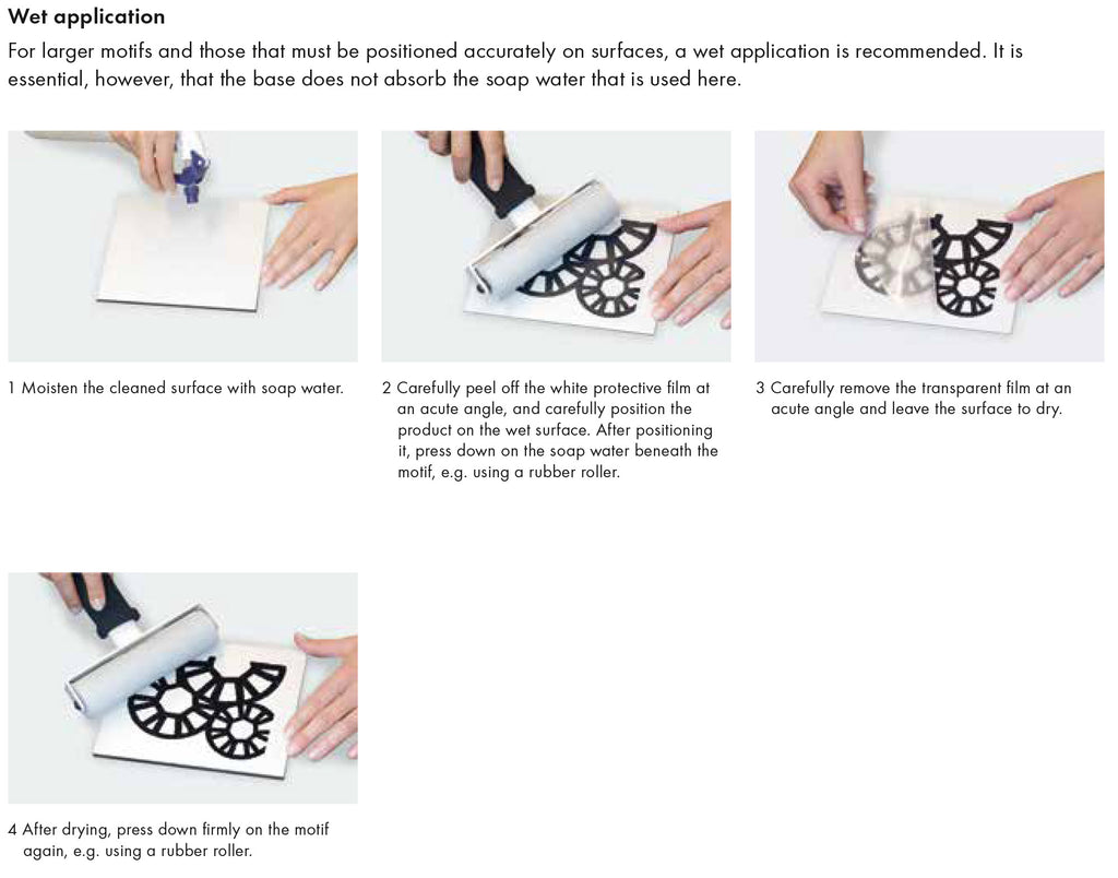 application of Swarovski self adhesive elements