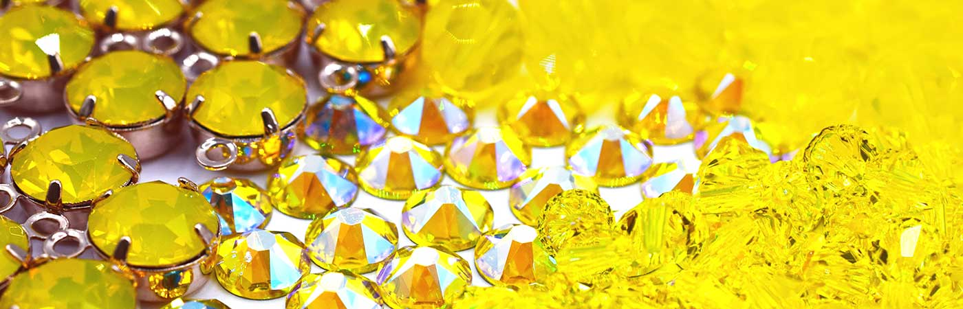 Swarovski crystals and beads in all shades of yellow from bluestreak crystals