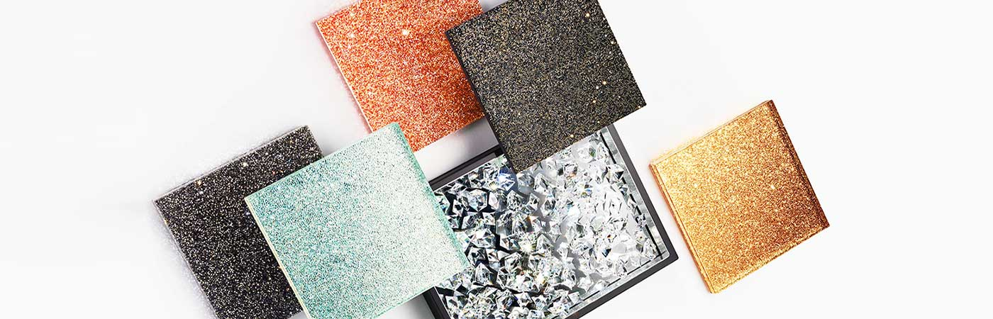 Swarovski crystal surfaces and panels for interior design for yachts, hotels, theatres, homes and businesses