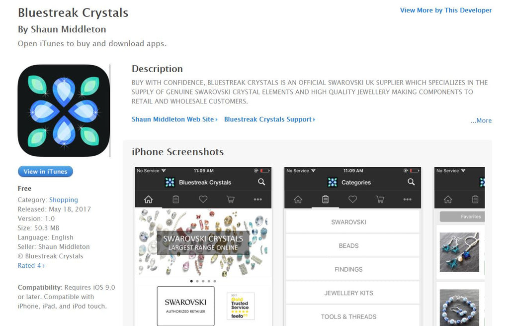 Bluestreak Crystals Mobile App is now available | Bluestreak