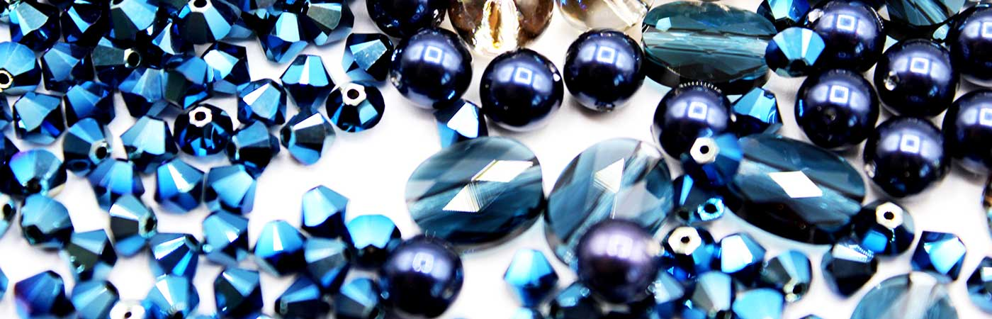 Swarovski® Beads & Crystals in Blues