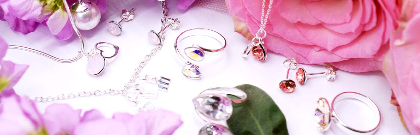 Jewellery made with Swarovski crystals and beads for mothers day