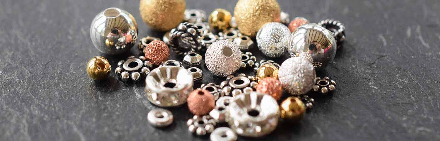 Metal beads jewellery making