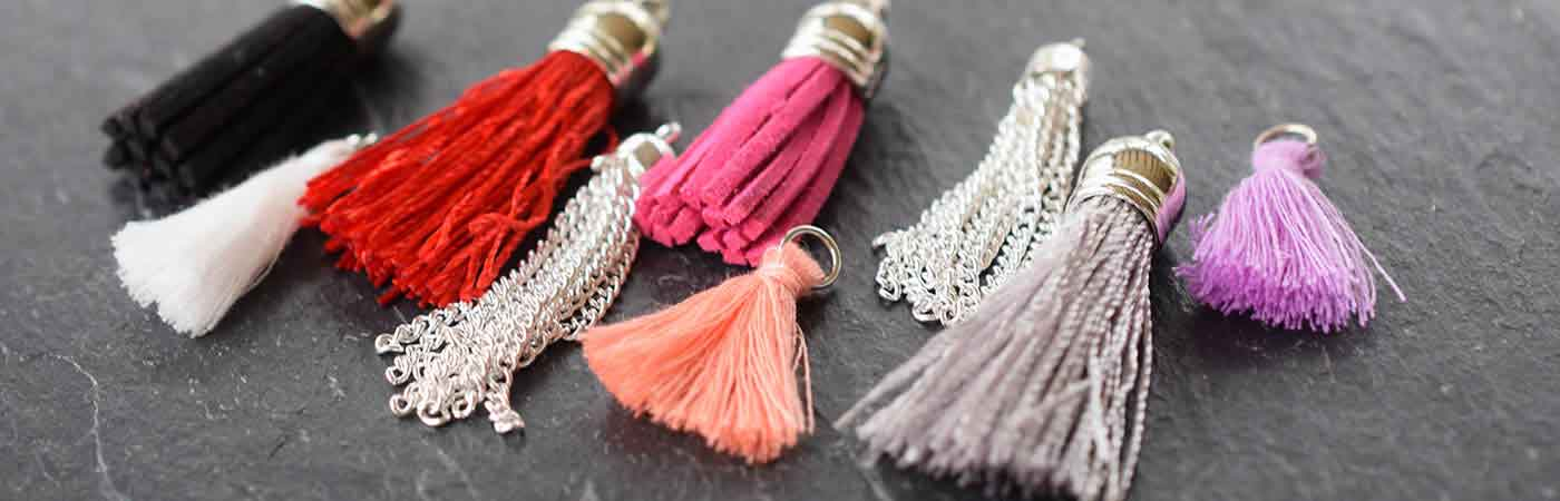 Tassels for jewellery making bluestreak crystals