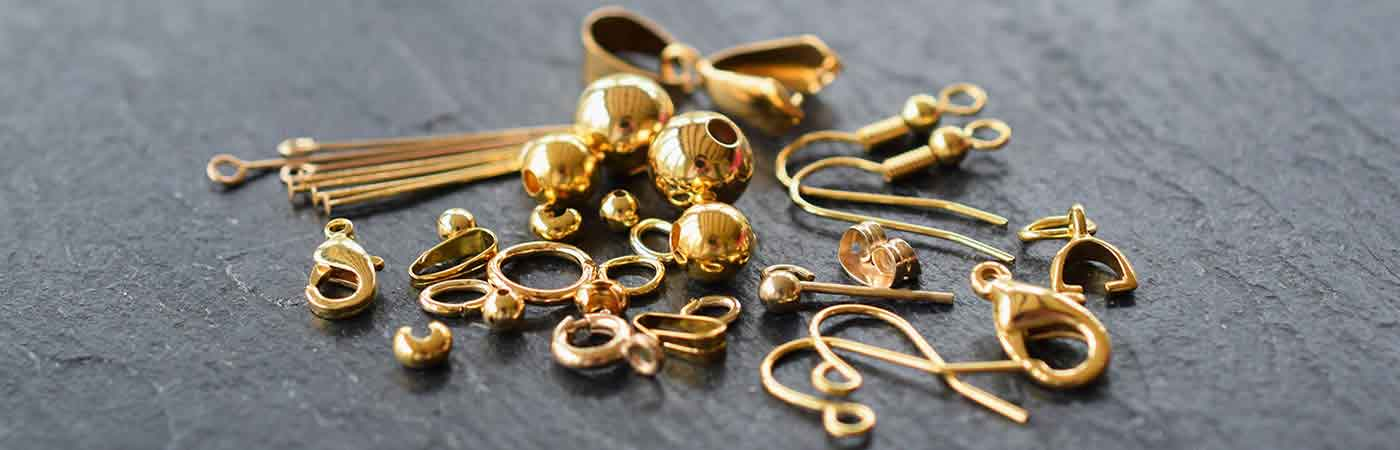 Gold plated findings jewellery making