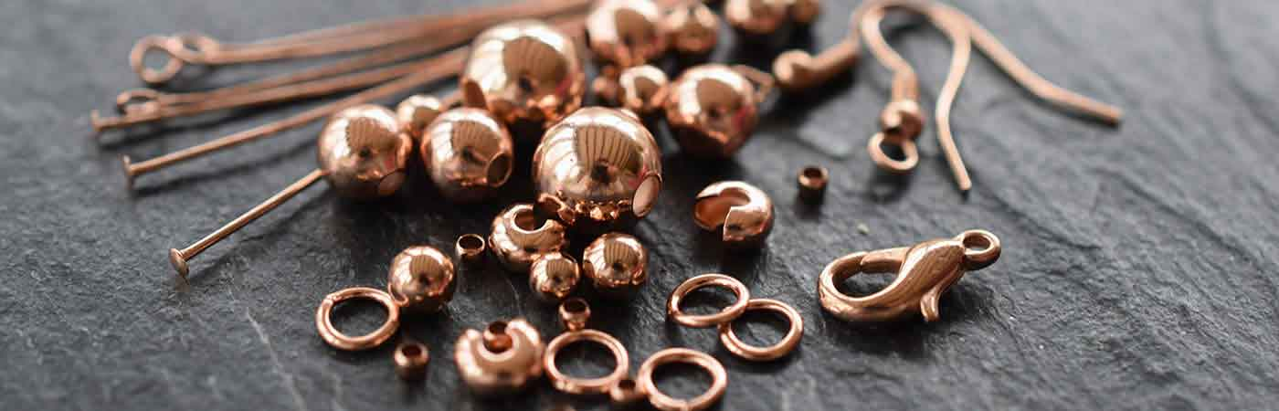 Rose gold findings jewellery making