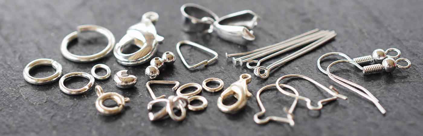 Silver plated findings jewellery making