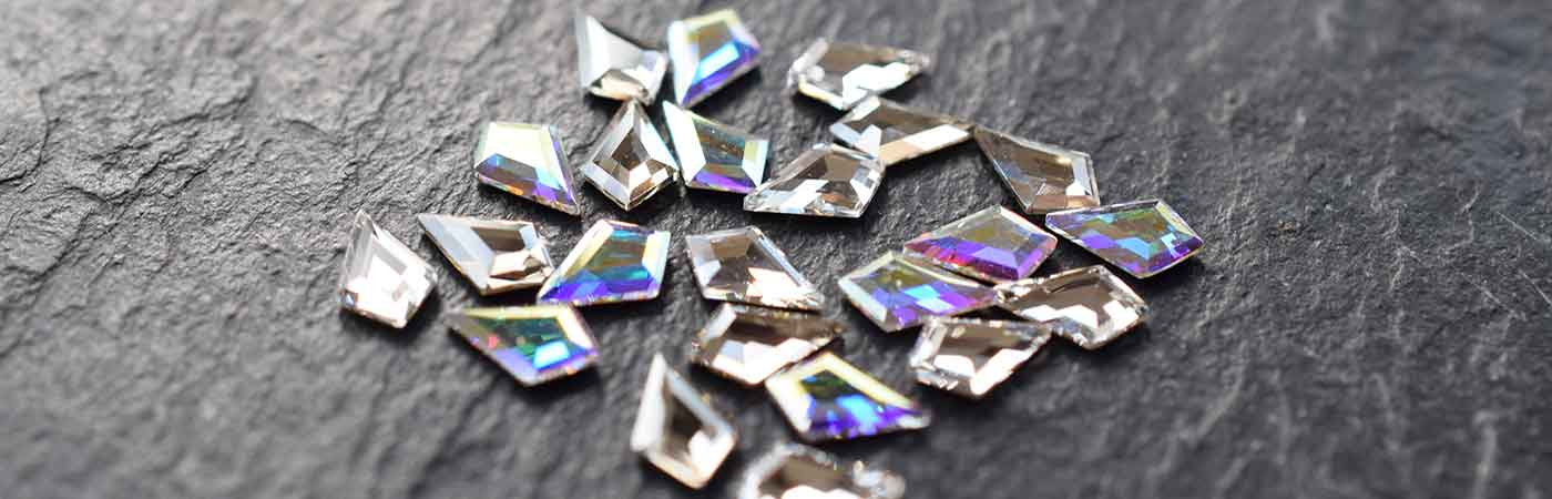 Swarovski Crystal Shapes For Nail Art Body Art Bluestreak