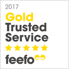 Feefo Gold trusted service winner 2017 bluestreak crystals swarovski beads and crystals