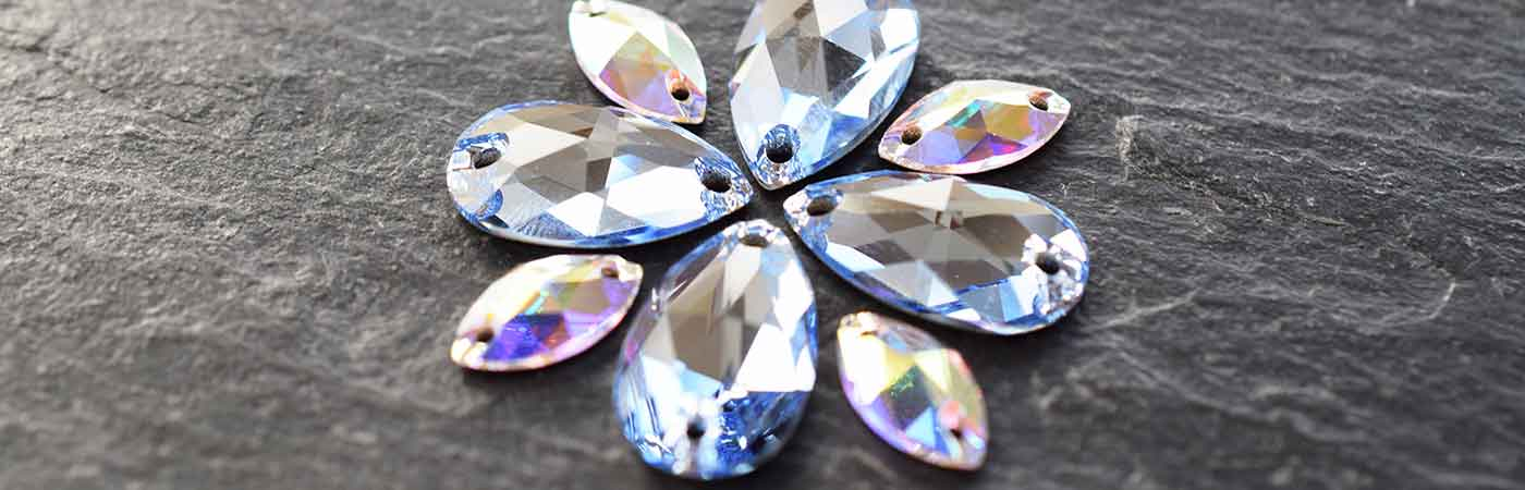 Swarovski sew on crystals and stones peardrop shape for dance and costume irish dance