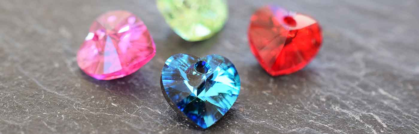 Swarovski Crystal Pendants Heart Shaped Love