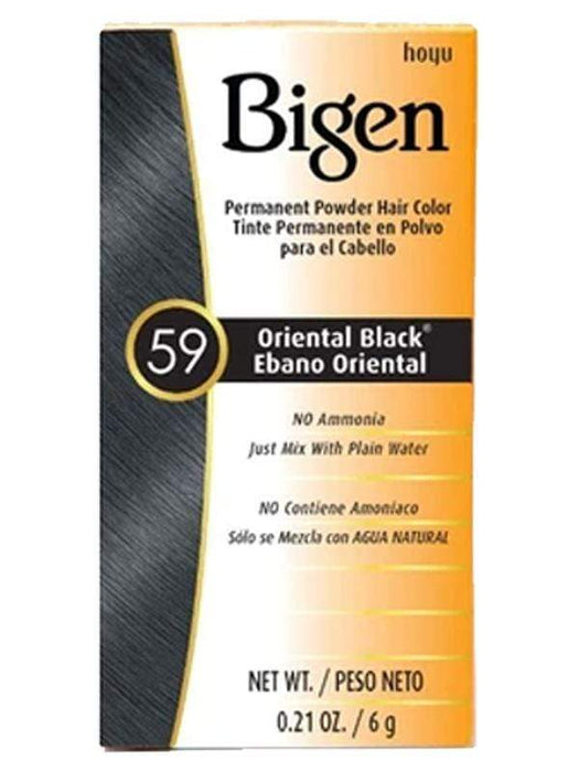 Bigen Hair Color 59 Oriental Black BIGEN Permanent Powder Hair Color