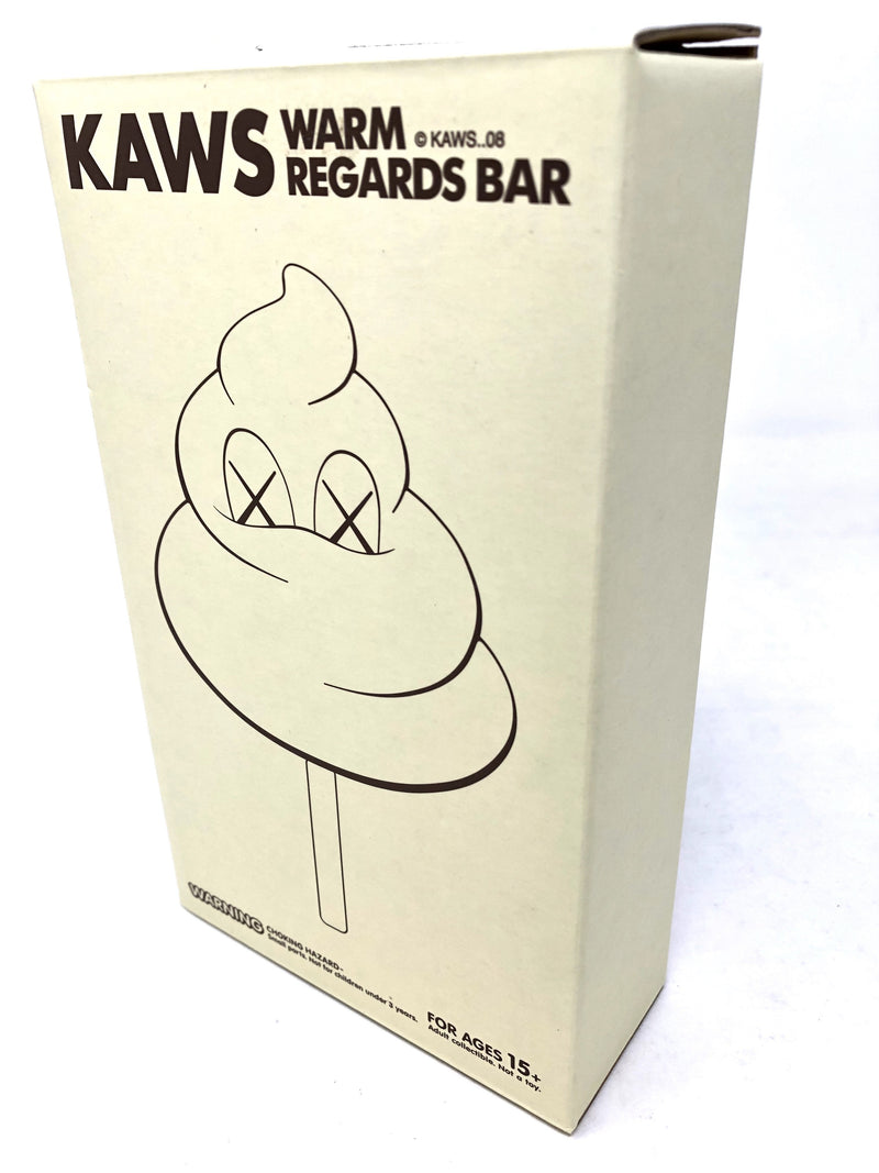 KAWS Warm Regards Bar <Original Fake> Medicom Toy WHITE - BOOKOFF USA