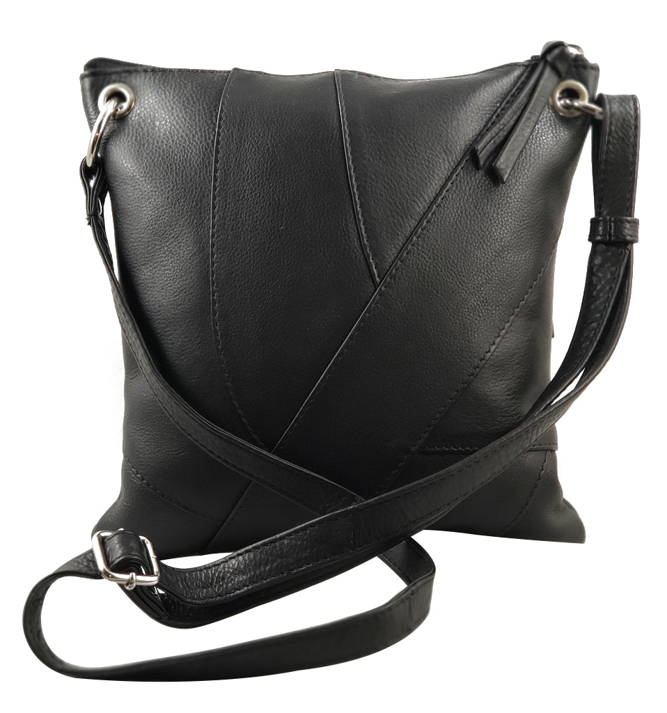 Leather Patchwork Style Crossbody