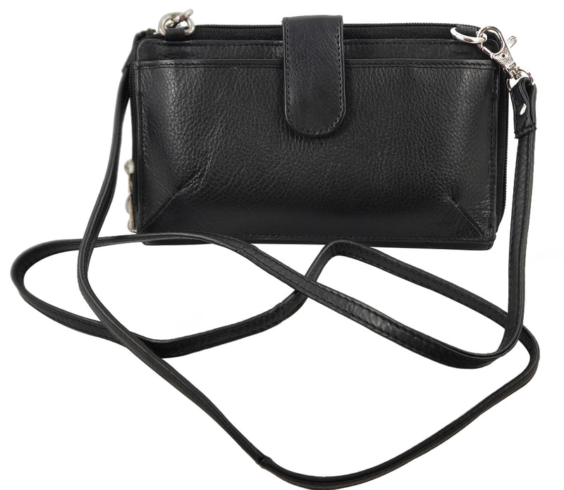 RFID Leather Crossbody/Wallet