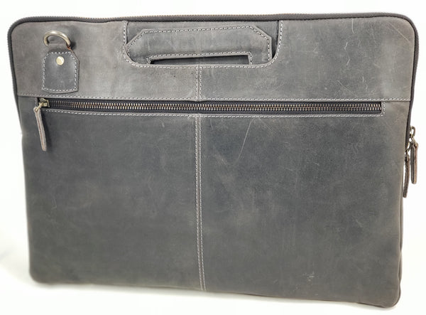 Distressed Leather Briefcase/Portfolio Bag